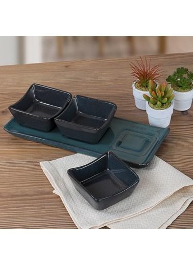 Keramika Keramika Lapis Reçellik/Sosluk/Kahvaltılık 4 Parça Renkli